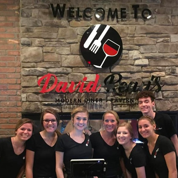 The great wait staff at David Reay's